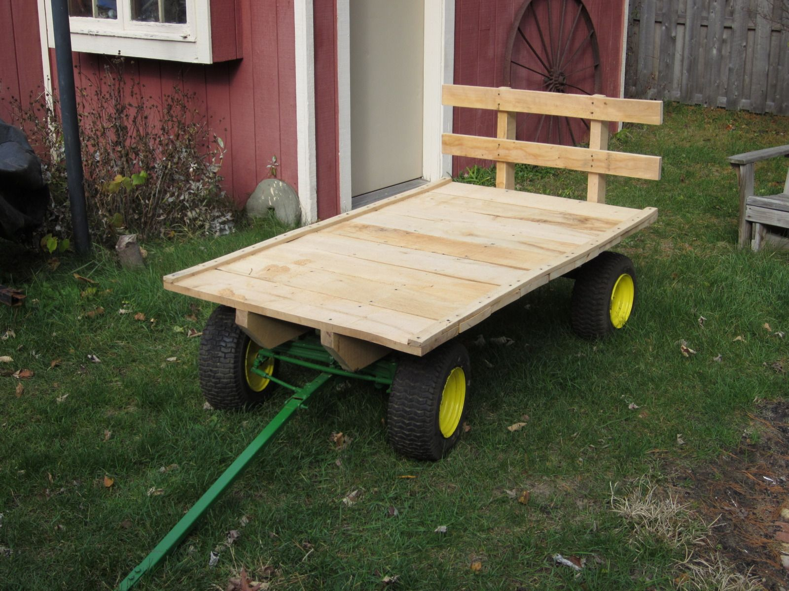 Garden Tractor Wagon : Gonna make one for myself too steel work pinterest