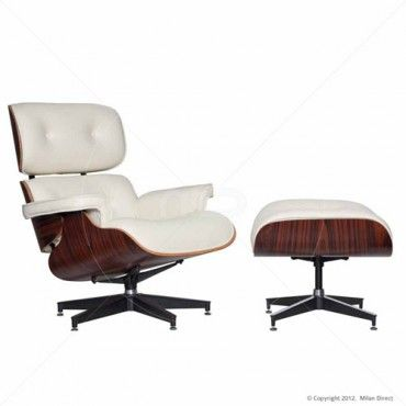 Eames Replica Lounge Chair   White   Buy Leather Lounges And Lounge Chair    Milan Direct
