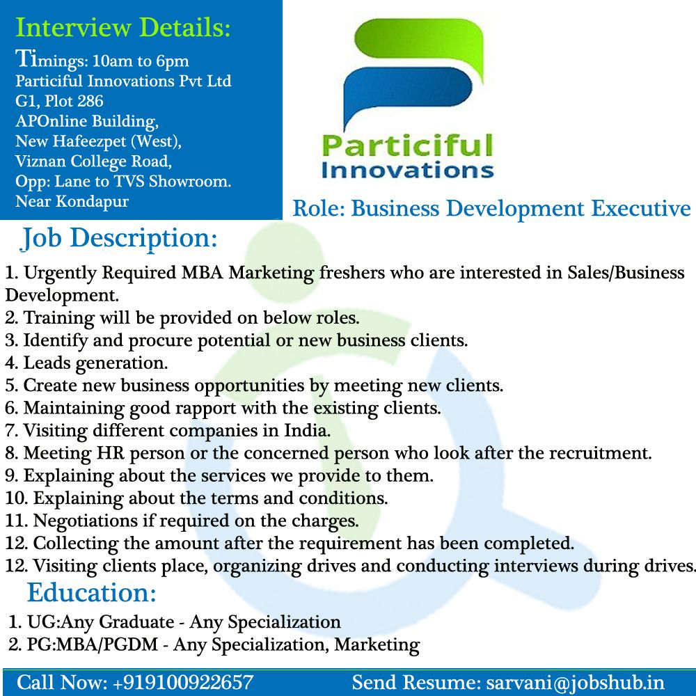 Urgent Hiring #BusinessDevelopmentExecutive for Particiful ...