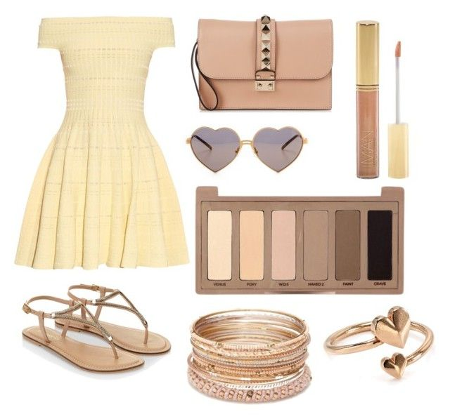 """""""Untitled #99"""" by jess-kett ❤ liked on Polyvore featuring Alexander McQueen, Valentino, Wildfox, Monsoon, Iman, Red Camel, Urban Decay and Alex and Ani"""
