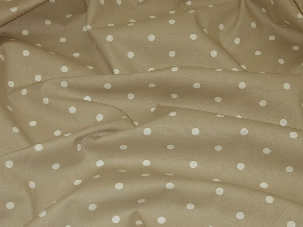 Clarke and Clarke Dotty Natural Designer Curtain Upholstery Fabric