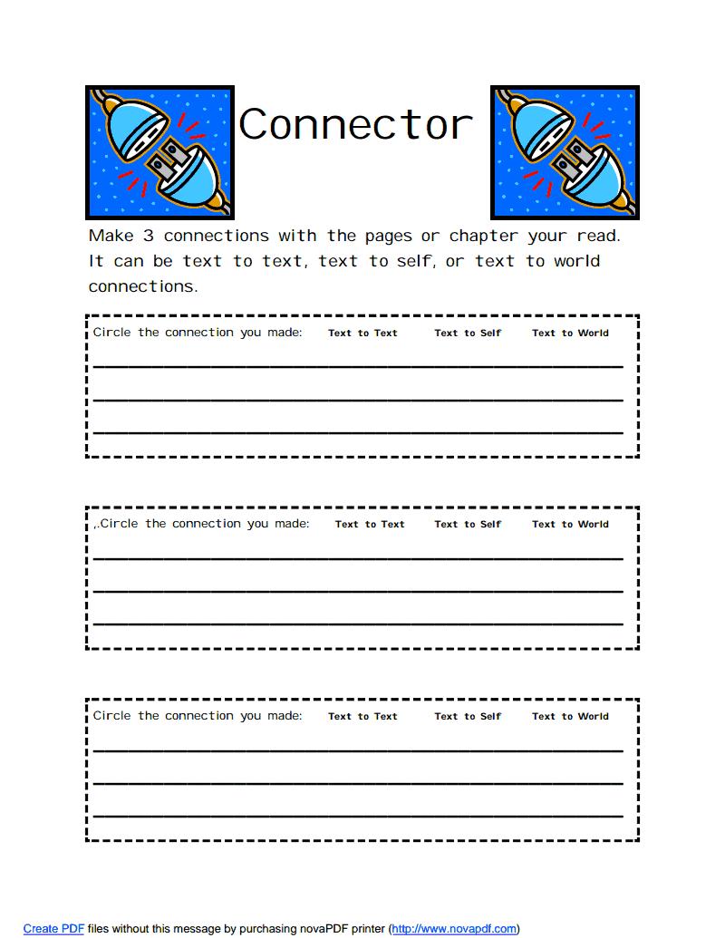 small resolution of Connector.pdf - Google Drive   Literature circles