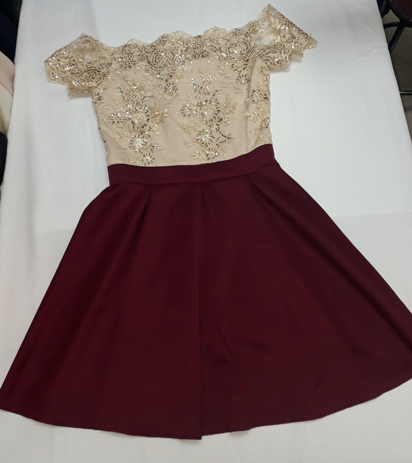 Vestidos Vino Cortos Casuales
