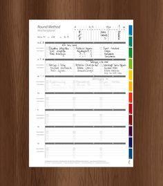 Wochenplaner (kostenlos) - The Round Method - Kalender / Calendar