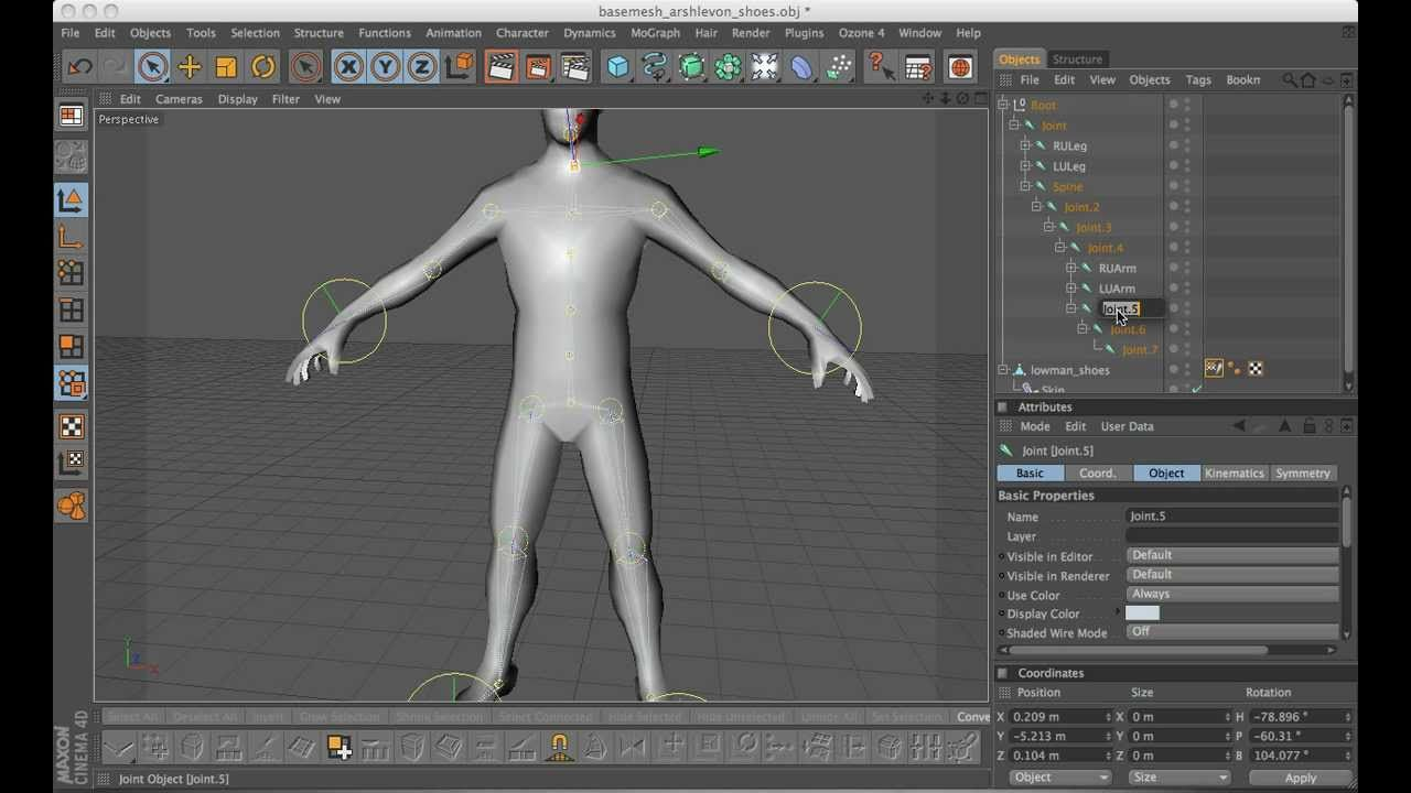 Character Design Cinema 4d Tutorial : Cinema d tutorial character rigging youtube