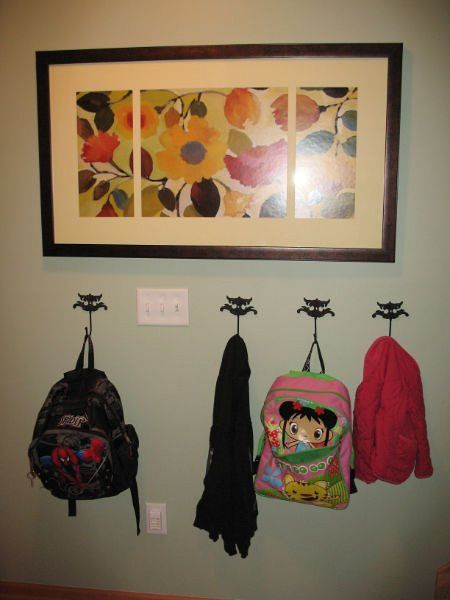 Hooks On Wall For Backpacks