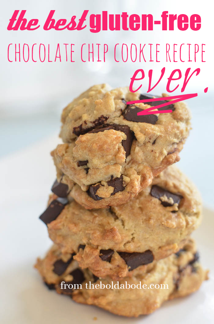 The BEST Gluten Free Chocolate Chip Cookie Recipe EVER. Seriously.