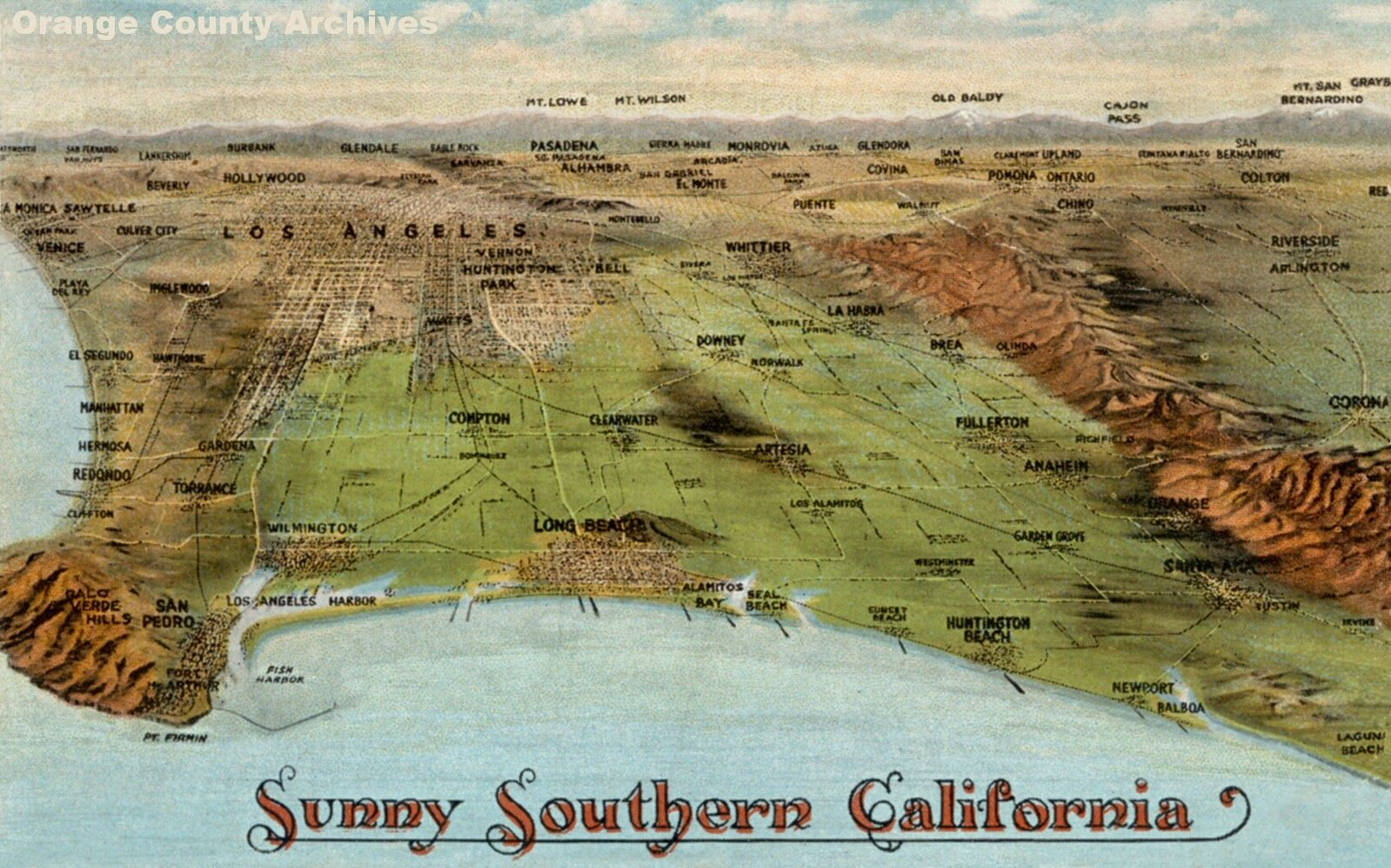 OC History RoundupEarly 1920s Southern California postcard