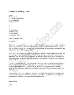 Break Letter  Letters Breakup And Writing Husband Love