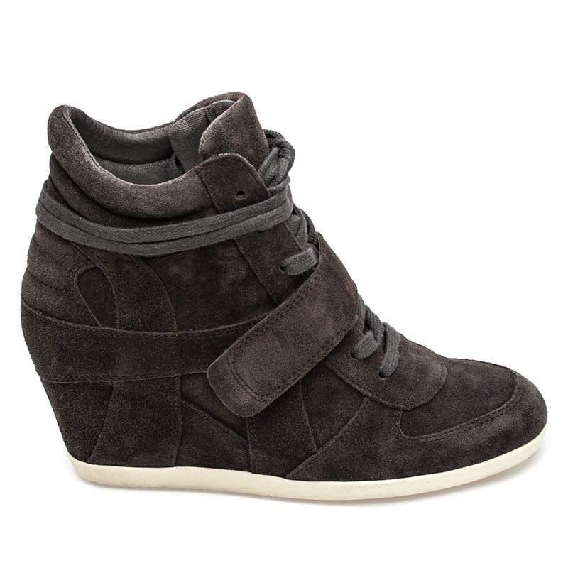 efe2cb252fae Ash Bowie Womens Wedge Sneaker Bistro Suede 360288 (021)