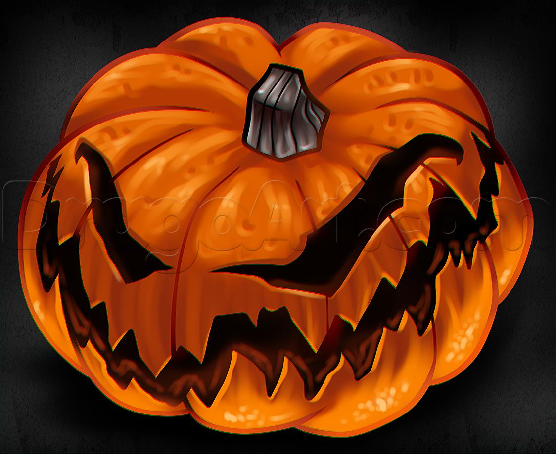 Drawing a Jack-O-Lantern Step by Step, Step by Step, Halloween ...