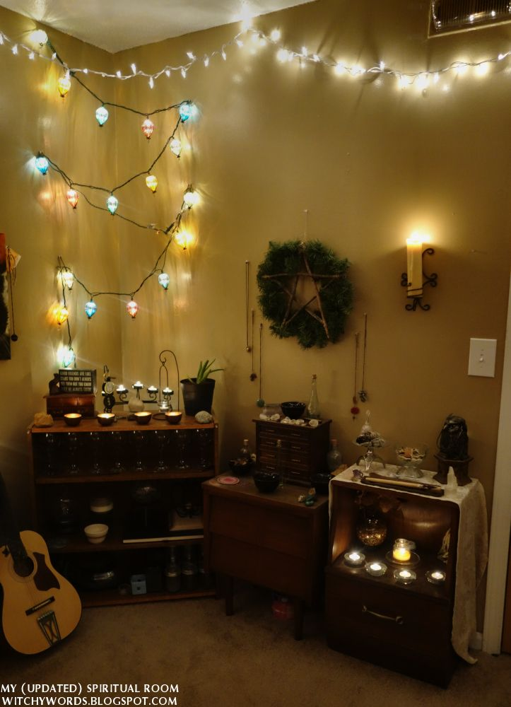 Witchy Words My Updated Spiritual Room Part 1 Of 5 The Corner Of Air Pagan Wicca Altars Decor Meditation Room Wiccan Decor