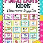 Labels for Classroom Supplies {Polka Dot Brights}  Decorate your classroom this year with these cheerful Polka Dot Brights themed supply labels. Th...