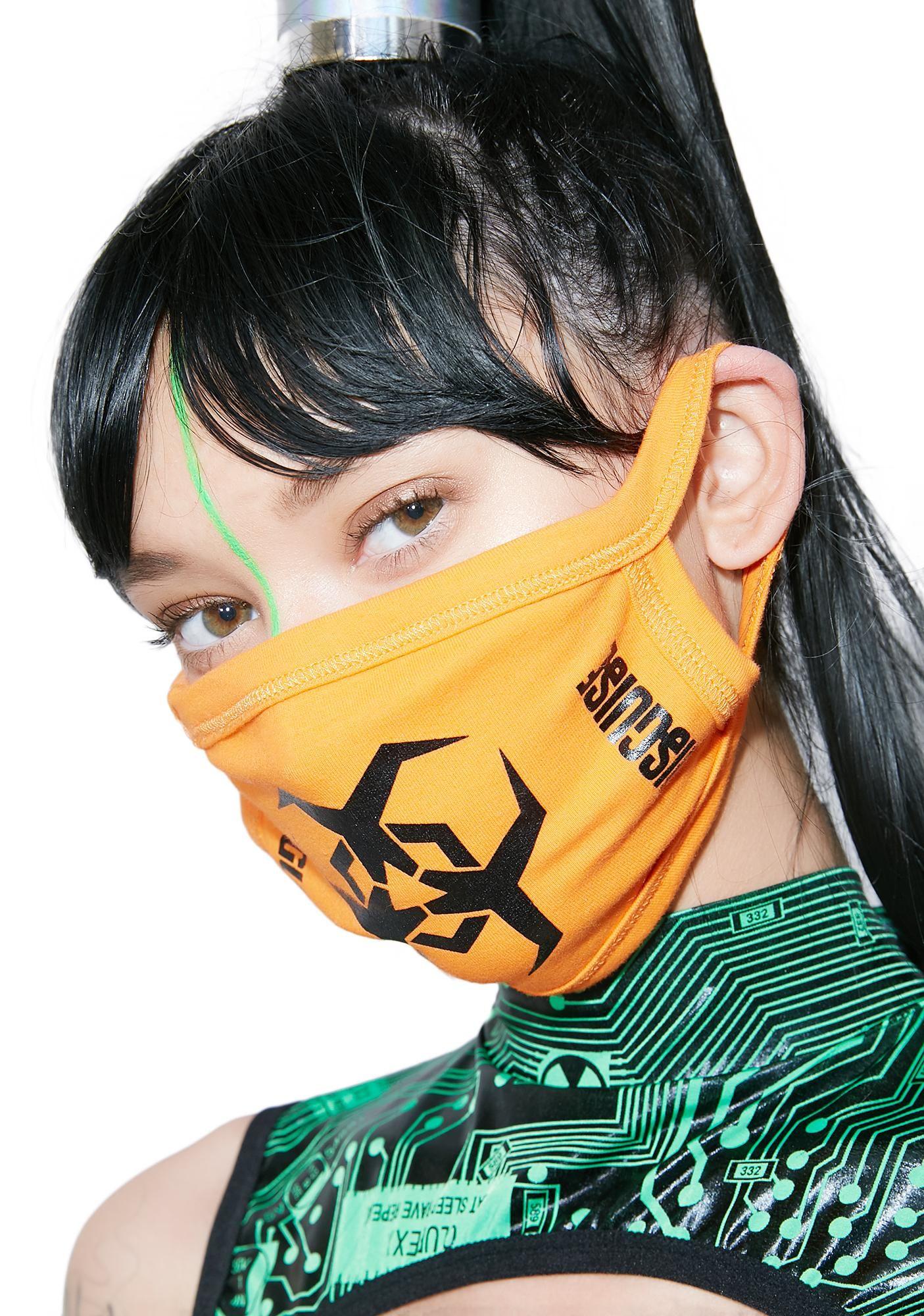 Hazard Mask Orange face mask, Womens fashion accessories