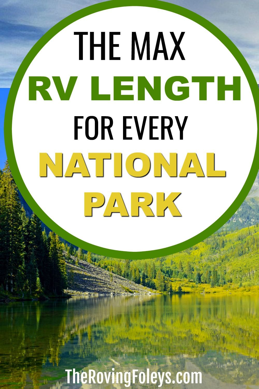 2020 Guide National Parks Rv Length Every Park The Roving Foley S In 2020 National Parks National Parks Usa Road Trips State Parks Usa