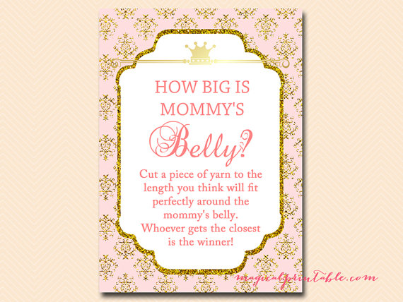 How Big Is Mommy S Belly Guess The Size Of Mom S Belly Princess