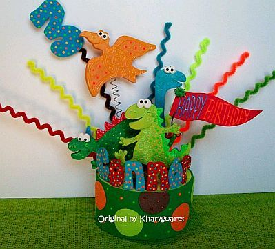 muyamenocom fiestas infantiles decoracin dinosaurios centros de mesa