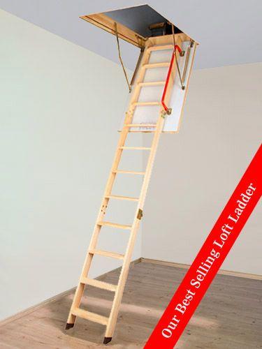 Loft Ladder With Handrail Google Search Loft Ladder Ladder Folding Ladder