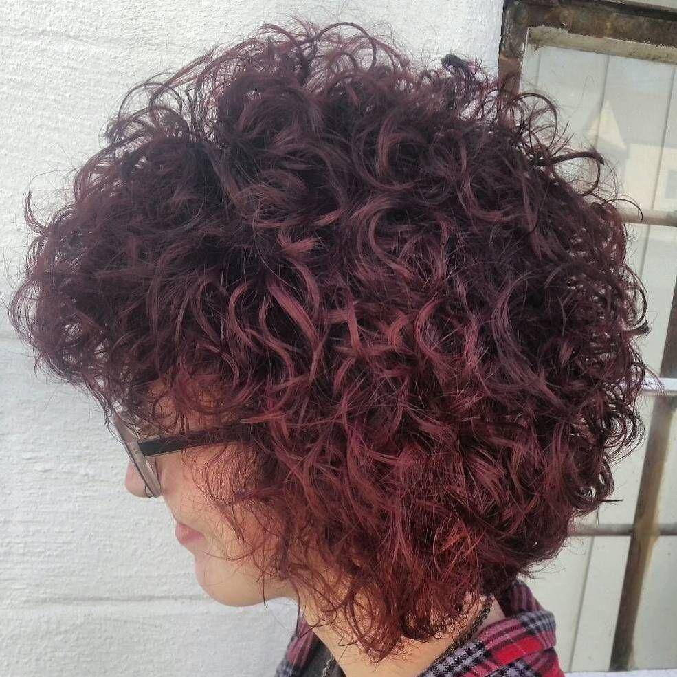 Permed burgundy bob beauty secrets pinterest bobs hair style