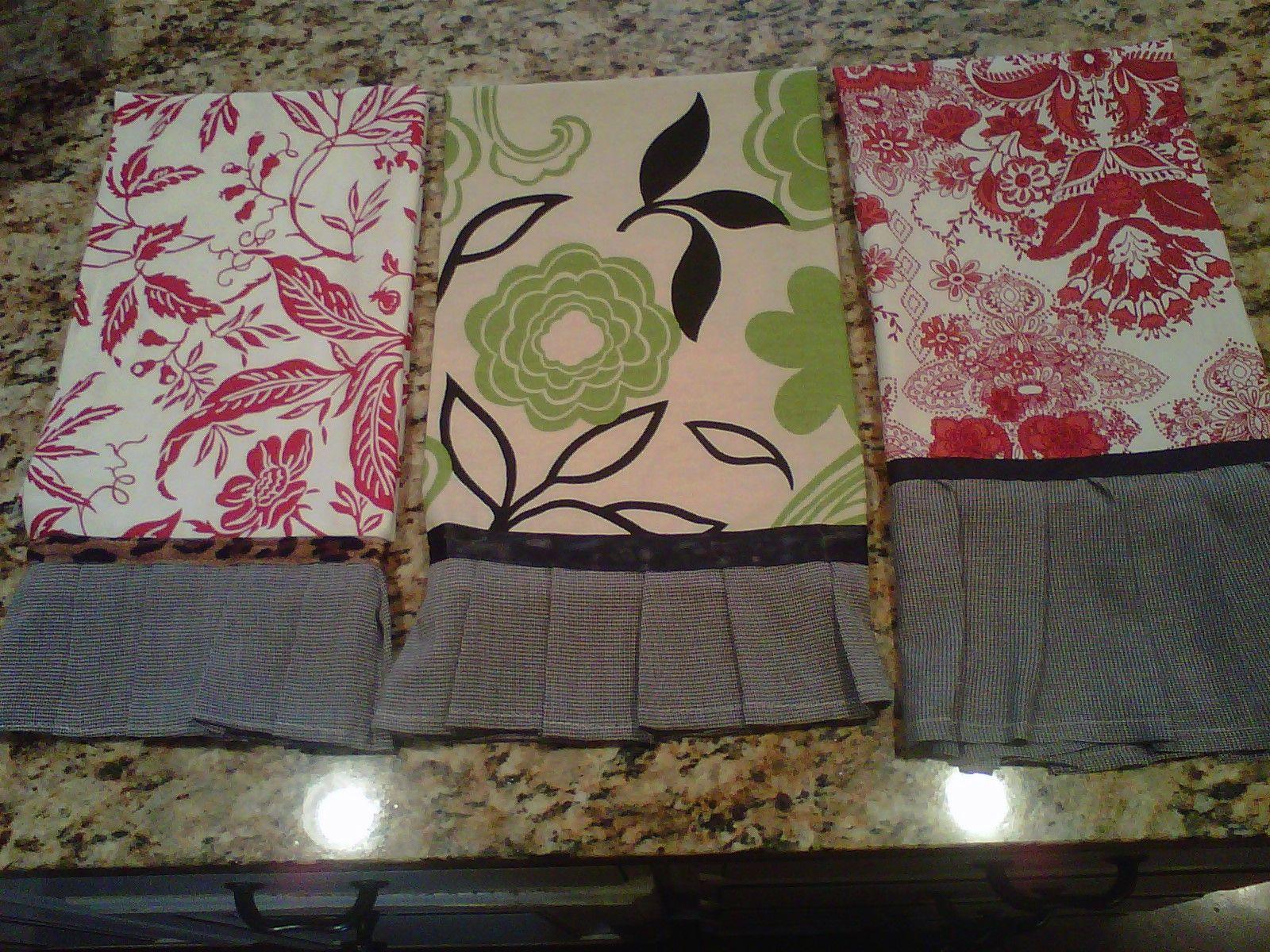 Christmas Gifts...homemade tea towels...super cute!!