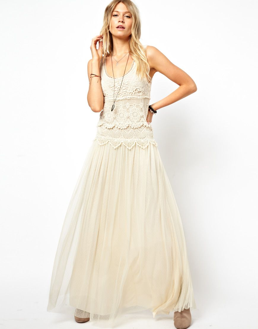 Mango Miranda Crochet Maxi Dress at asos.com  Langes