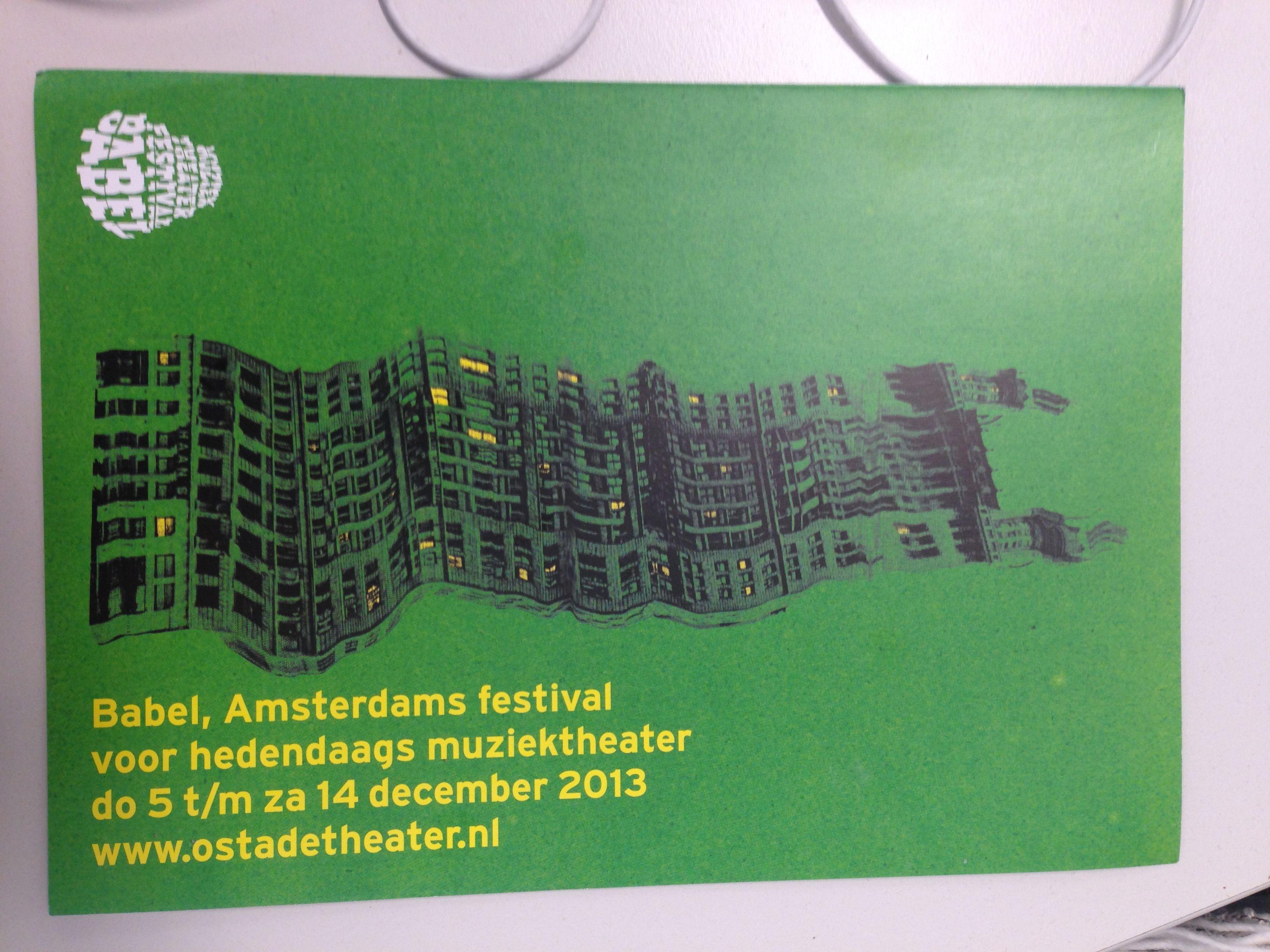 Brochure over agenda van Ostade Theater gelegen in Amsterdam. Duidelijk, niet teveel kleurgebruk.