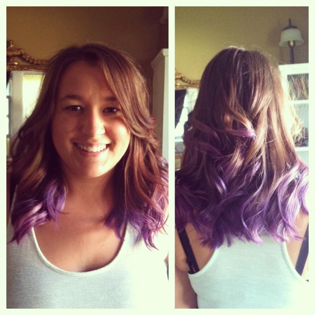Image Result For Purple Tips On Short Brown Hair H A I R