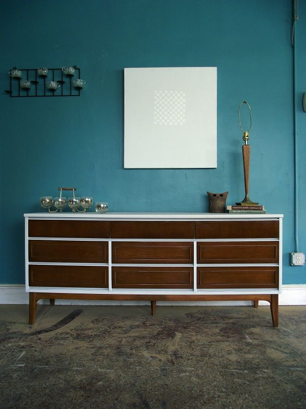 Painted White Mid Century Dresser Google Search