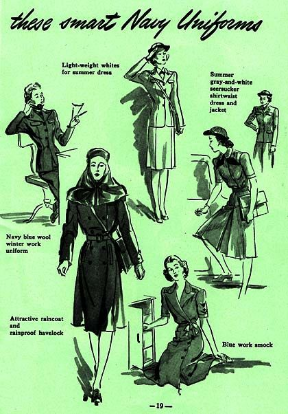 Some feared that the stylish uniforms offered to recruits in the WAVES made them a bit too attractive to Army officers.