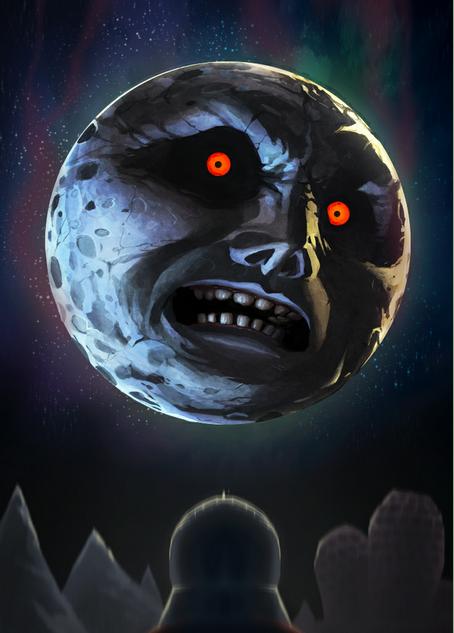 Majoras Mask The Moon By Go Maxpower On Deviantart Google Chrome 2012 09 20 10 54 20 Zelda Moon Moon Art Majoras Mask Moon