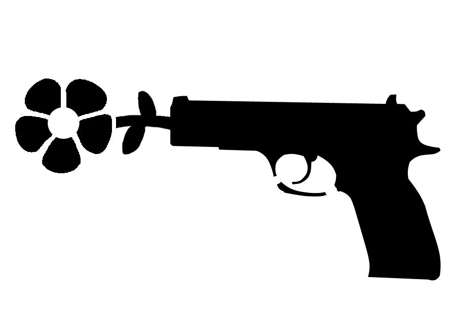 flower gun stencils pinterest guns and stenciling