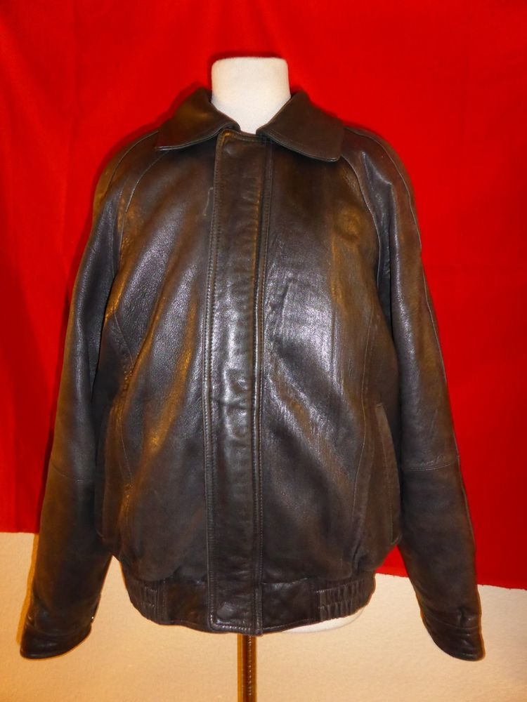 576feefa5 Pelle Studio Wilsons Black Leather Jacket Coat Bomber Mens ...