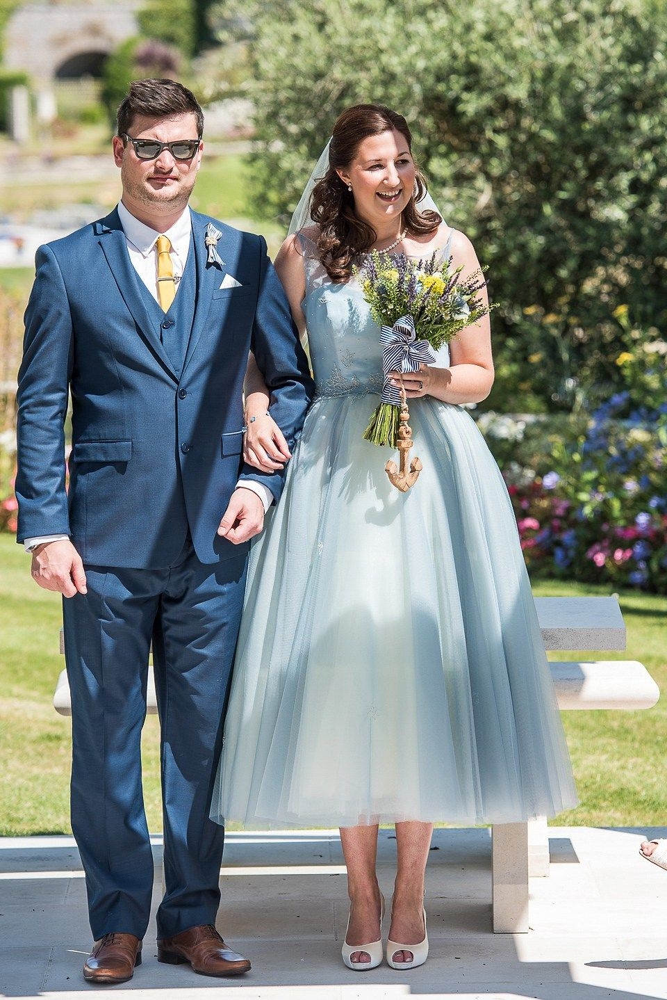 A Pretty Pale Blue Wedding Dress for a Nautical Inspired Summer ...