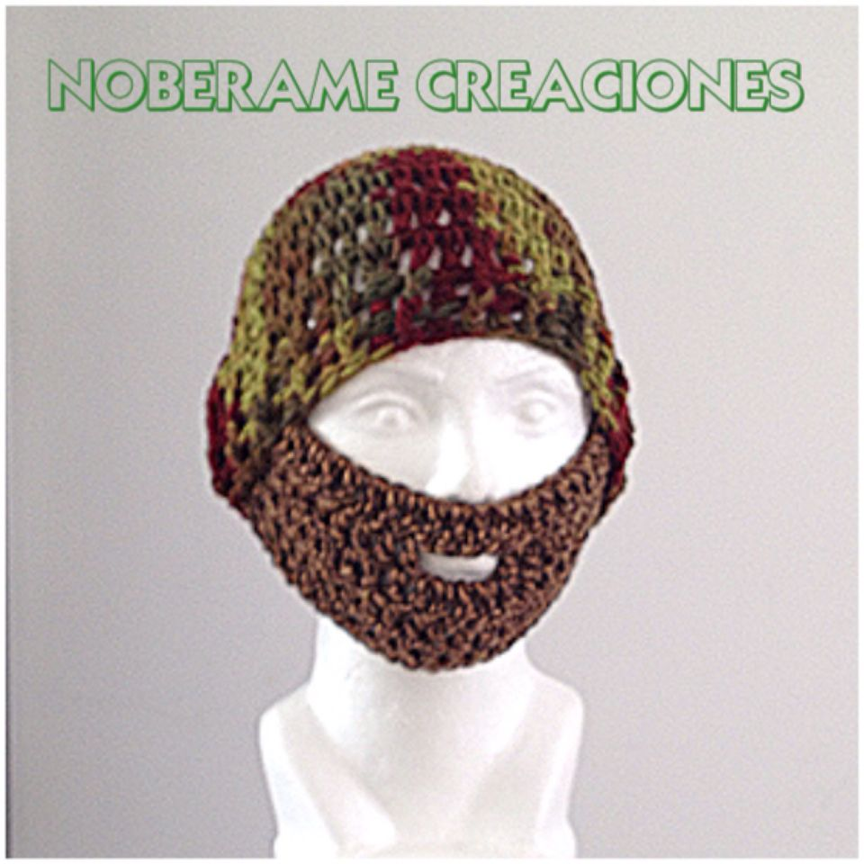Gorro con Barba | NOBERAME CREACIONES | Pinterest | Gorro con barba
