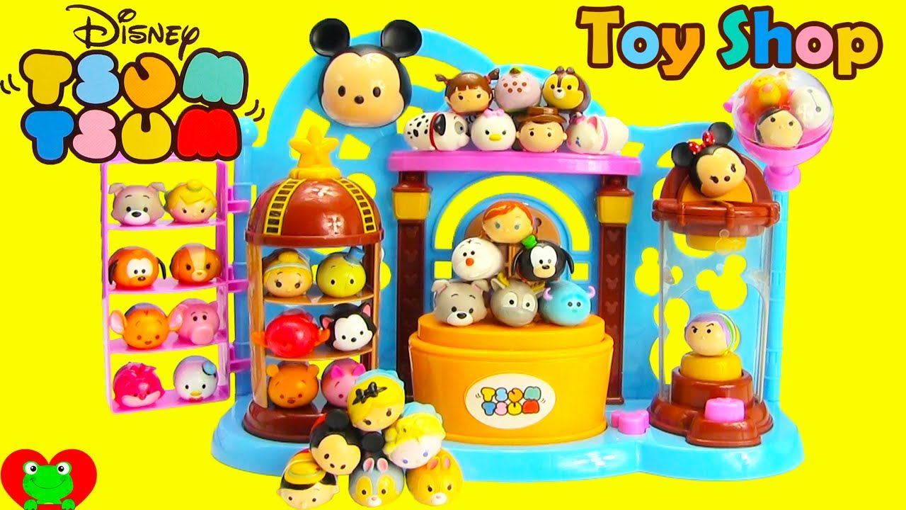 Disney Tsum Tsum Para Colorear Buzz Lightyear: Disney Tsum Tsum Toy Shop Playset And Squishy 4 Packs