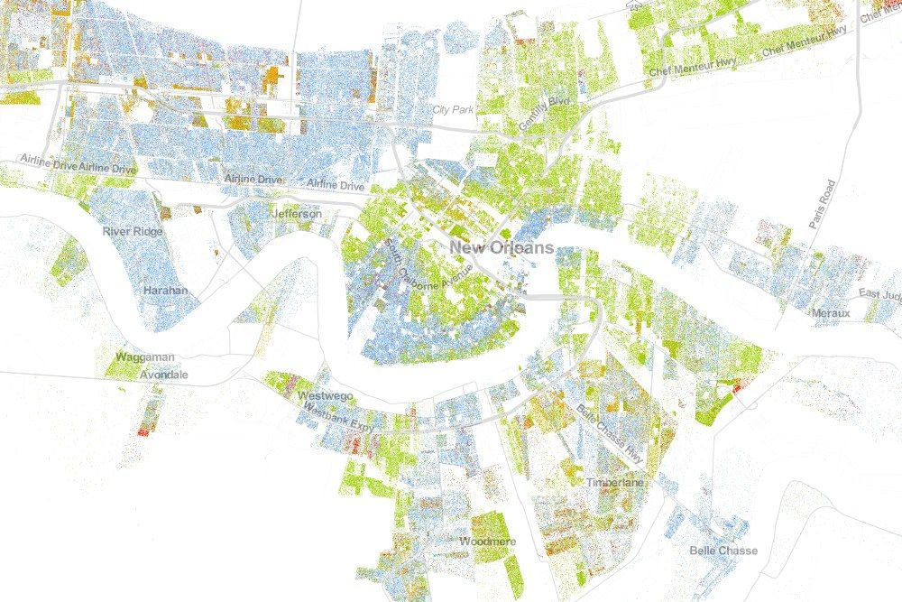 The Best Map Ever Made Of Americas Racial Segregation - Us segregation map