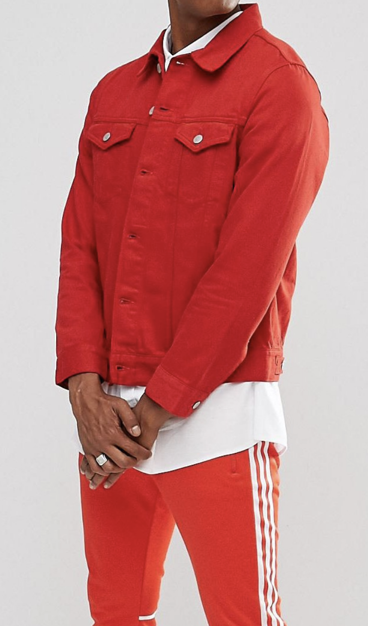 On My Wish List Weekday Single Denim Jacket Love Red From Asos Ad