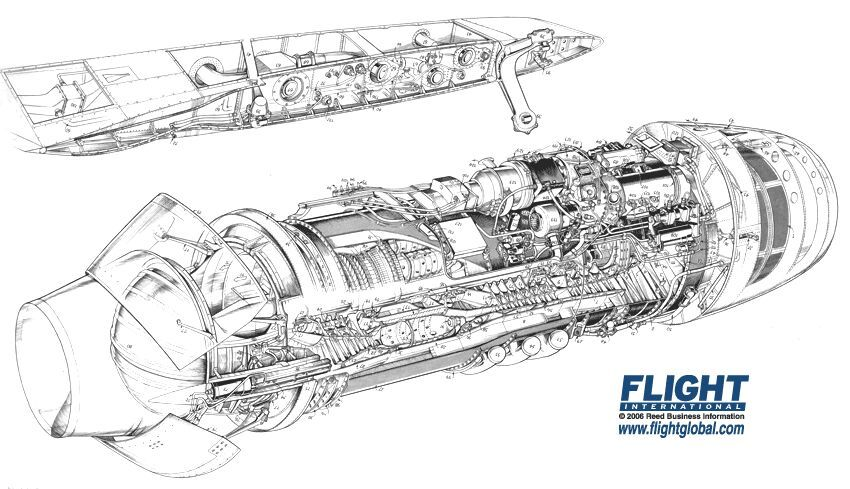 Pratt Whitney Jt8d Cutaway 850 489 Design Engines