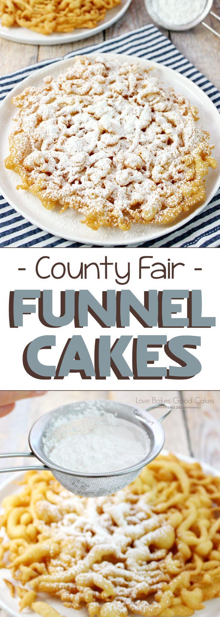 County fair funnel cakes recipe fair food recipes