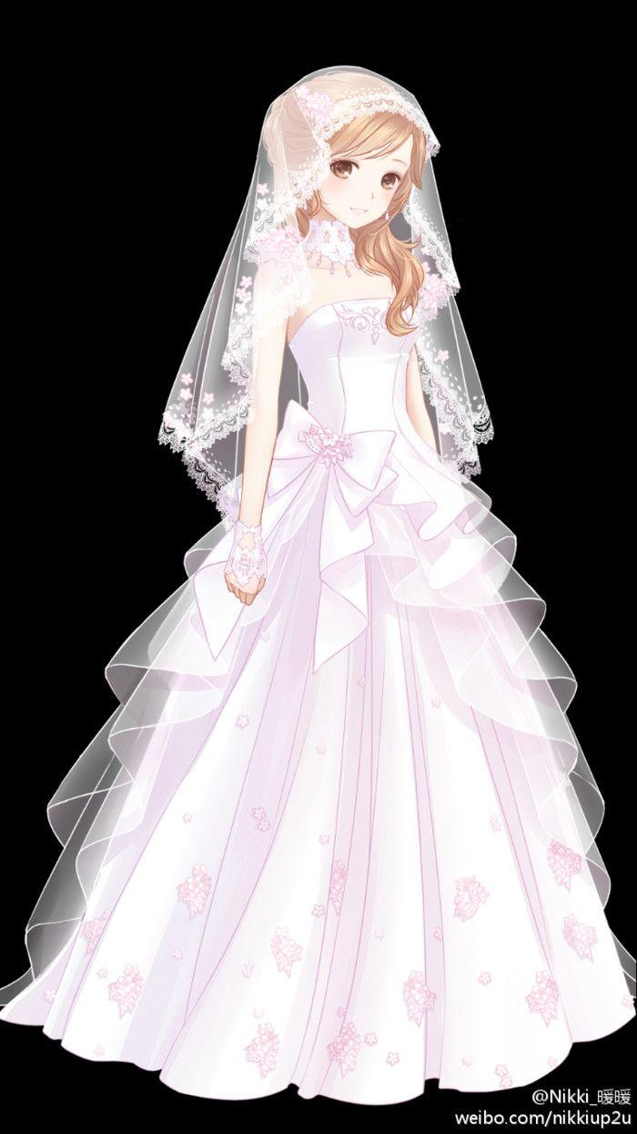 Around The World People Set Warm Cartoon Wedding Series Xiangfen - Anime Wedding Dress