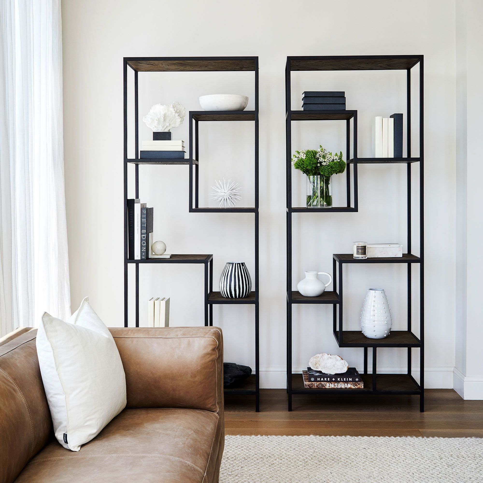 Apollo Marble Book Ends Pairs Shelving Units Living Room