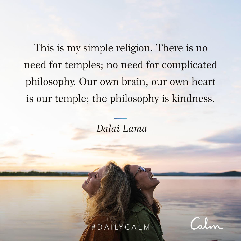 Dalai Lama Quote Morning