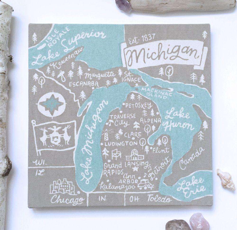 Image of Michigan Souvenir Map
