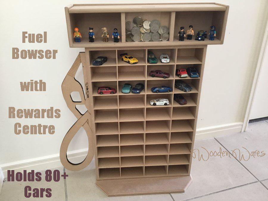 Woodenwares Designed Fuel Pump Browser Suits All Matchbox And Hot Wheels Cars Rewards Centre For Rewarding The Child A Hot Wheels Storage Car Storage Storage