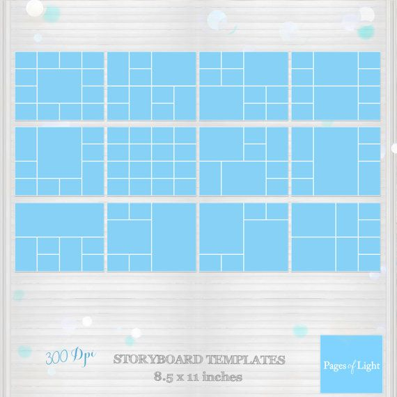 PSD Photo Template Storyboard Template Photo by PagesOfLight - digital storyboard templates
