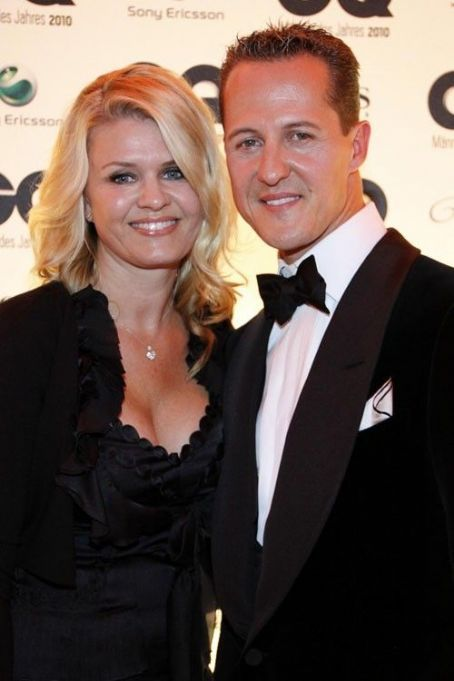 Michael With His Lovely Wife Corinna Schumacher Michael