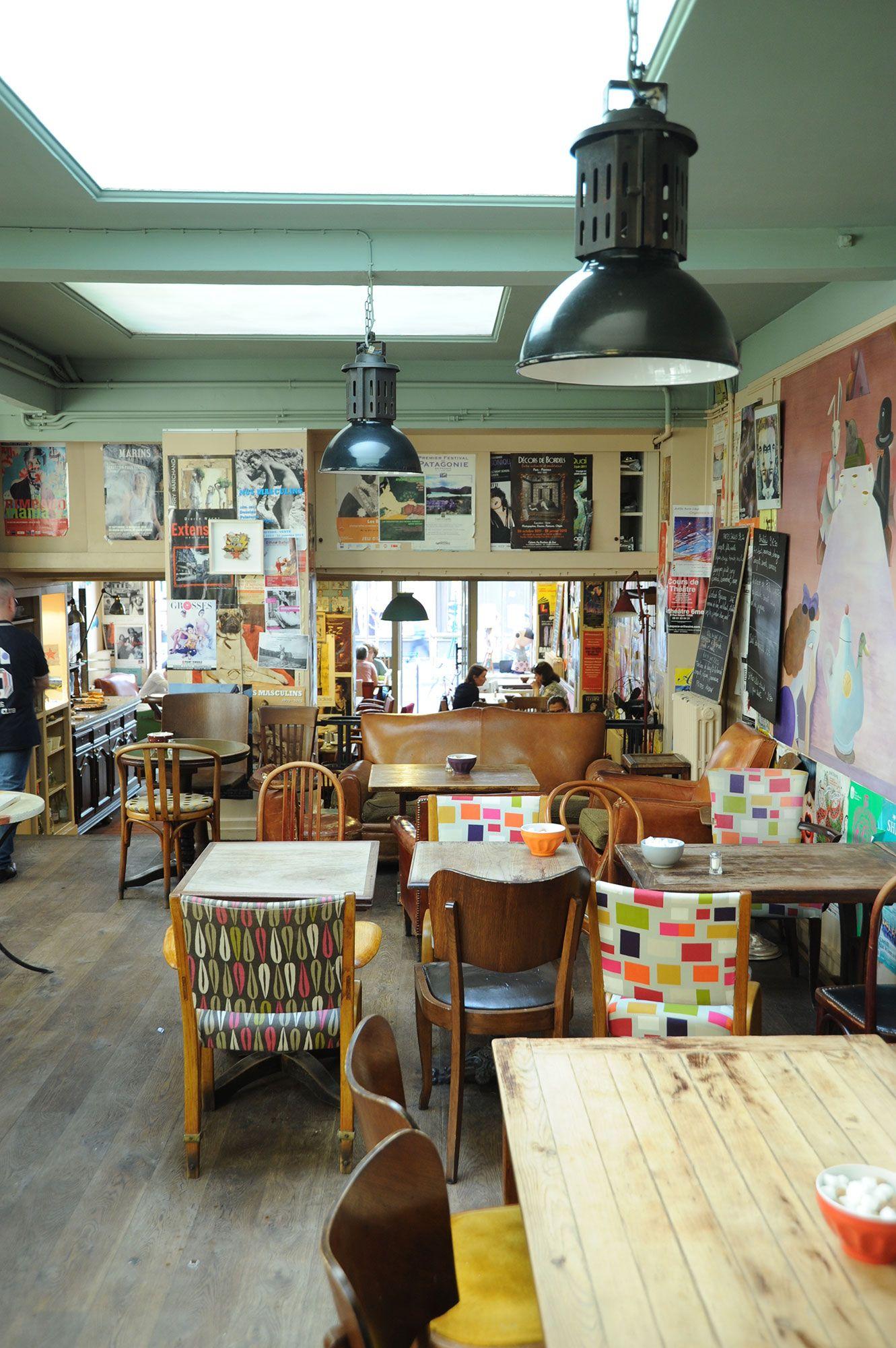 Le Loir Dans La Theiere Salon De The Resto 75003 Paris Salon De The Design De Magasin De Cafe Decoration Interieure