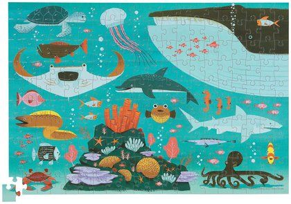 Crocodile Creek Poster Puzzle Ocean Free Shipping Crocodile Creek Favorite Child Activity Kits