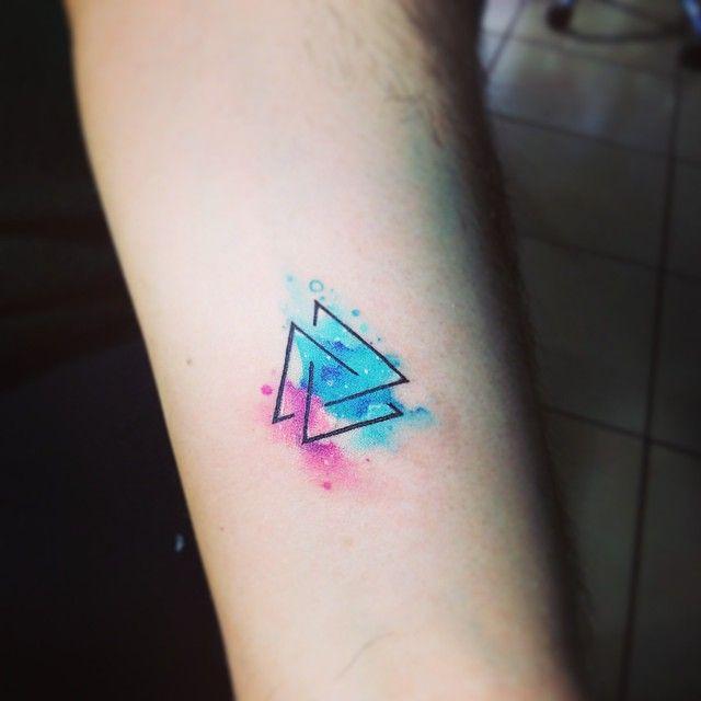 Triab Tattoo Tatuaje Triángulo Colors Watercolors