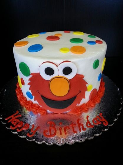 Elmo Smash Cake wwwGGCupcakecom Character Cakes Pinterest
